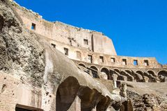 Inside the colloseum Stock Photography