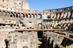 Inside the colloseum at rome Stock Photo