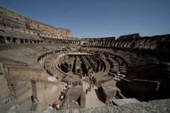 Inside Collosseum. Inside view of the Roman Collosseum Stock Images