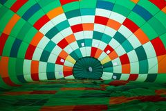 Inside in hot air balloon Stock Photo