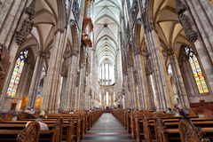 Inside Cologne Cathedral - Germany Stock Photo