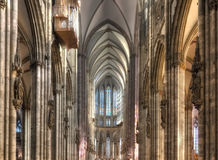 Inside the Cologne Dom Nave Royalty Free Stock Photos