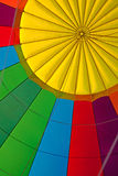 Inside of a colorful hot air balloon. With some space for text Stock Image
