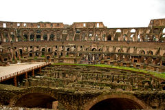 Inside of the coloseum in Rome Royalty Free Stock Photos