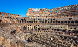 Inside The Coloseum in Rome Stock Photography