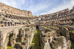 Inside the colosseo Royalty Free Stock Photography