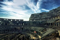 Inside of Colosseum Royalty Free Stock Photo