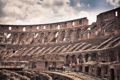 Inside Colosseum Royalty Free Stock Image