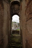 The Arch of Constantine from the Colosseum - landmark attraction in Rome, Italy Stock Image