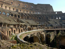 Inside of the colosseum Royalty Free Stock Photography