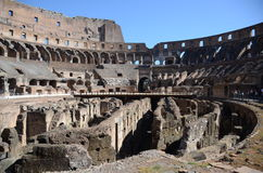Inside the colosseum. View in inside of the colosseum Royalty Free Stock Photo