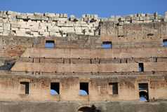 Inside the Colosseum, also known as the Flavian Amphitheatre in Rome, Italy stock images