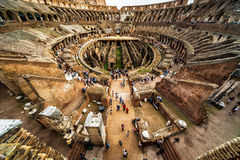 Inside the Colosseum (Coliseum), Rome. ROME - MAY 10, 2014: Inside the Colosseum (Coliseum). The Colosseum is an important monument of antiquity and is one of Stock Photography