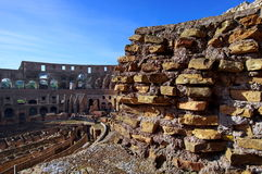 Inside the ruins of the Colosseum - landmark attraction in Rome, Italy Stock Image