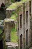 Inside Colosseum - details - landmark attraction in Rome, Italy Stock Photo