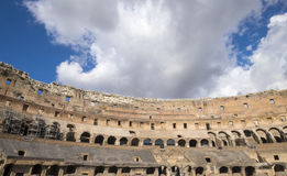 Inside of the Colosseum Looking Up Into the Sky Royalty Free Stock Image