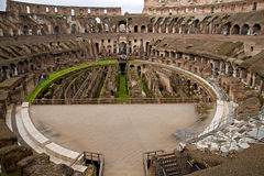 Inside the Colosseum in Rome Stock Photo