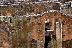 Inside the Colosseum of Rome royalty free stock images