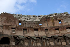 Inside of the colosseum in Rome Stock Image