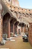 Inside the Colosseum in Rome Stock Image