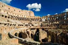 Inside of Colosseum in Rome Stock Photography
