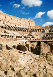 Inside of Colosseum in Rome Stock Image