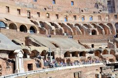 Inside the Colosseum of Rome royalty free stock image