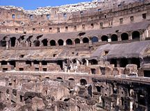 Inside the Colosseum, Rome, Italy. Royalty Free Stock Image