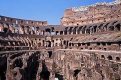 Inside the Colosseum, Rome, Italy. Royalty Free Stock Images