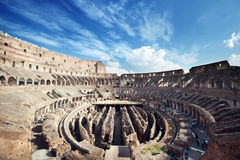 Inside of Colosseum in Rome Royalty Free Stock Images