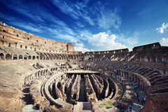Inside of Colosseum in Rome Royalty Free Stock Photos
