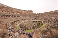 Inside Colosseum Stock Photography