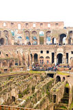 Inside the Colosseum in Rome, Italy Royalty Free Stock Photography