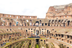 Inside the Colosseum in Rome, Italy Stock Image