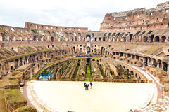 Inside the Colosseum in Rome, Italy Royalty Free Stock Photos