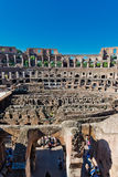 Inside of Colosseum in Rome, Italy. Stock Images