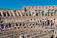 Inside of Colosseum in Rome, Italy. Royalty Free Stock Images
