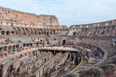 Inside Colosseum in rome Stock Photos