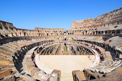 Inside of Colosseum in Rome stock photo