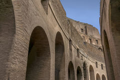 Inside of Colosseum stock photography