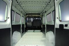 Inside commercial van Royalty Free Stock Image