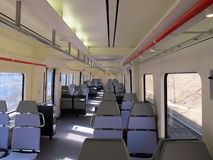 Inside a commuter train Royalty Free Stock Image