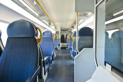Inside commuter train Stock Photo