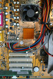 Inside of computer. Shot of inside of a computer stock image