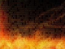 Inside the computer. Abstract background with glowing numbers Stock Image