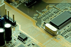 Inside a computer circuit Stock Images