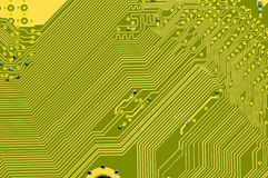 Inside a computer circuit Stock Photography