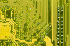 Inside a computer circuit Stock Image