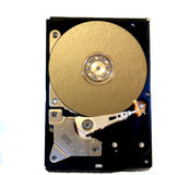 Inside of a computer hard drive Stock Photo