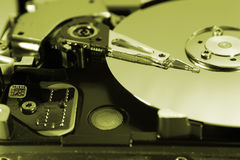 Inside of Computer Hard Drive Royalty Free Stock Photography